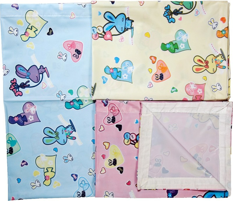 Love Baby 1 TC Velvet Crib Abstract Bedsheet(Pack of 3, Multicolor)
