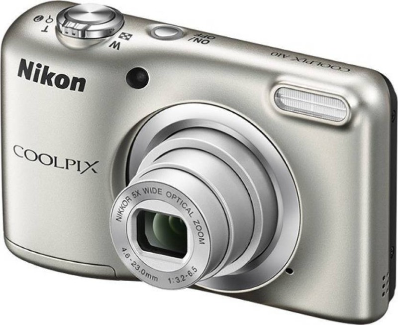 Nikon Coolpix A10 Point and Shoot Camera(16.1 MP, 5x Optical Zoom, 4x Digital Zoom, Silver)