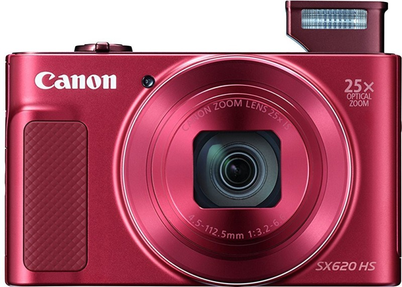 Canon Powershot SX620 HS Point and Shoot Camera(20.2 MP, 25x Zoom Optical Zoom, 25 Digital Zoom, Red)