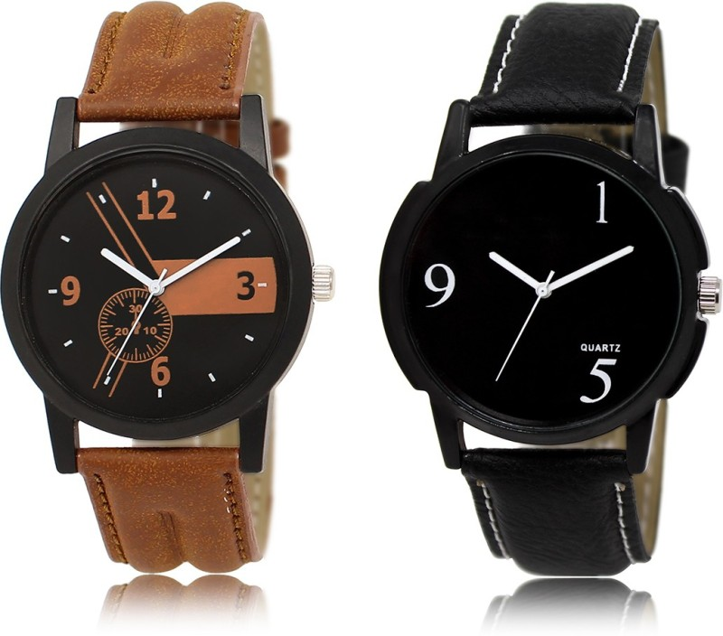 3King Mens Leather Strap Analog Watch Watch - For Men