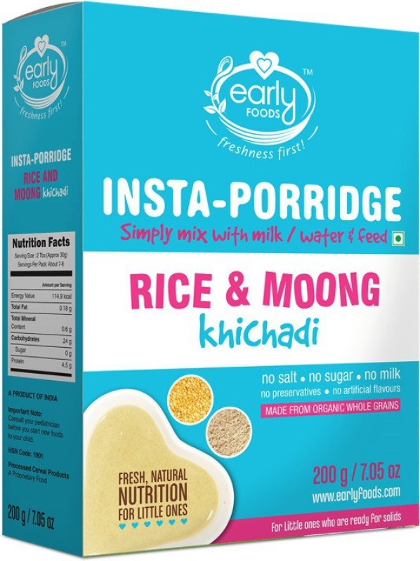 Early Foods Instant Rice & Moong Khichdi Mix 200g Cereal(200 g, 24+ Months)