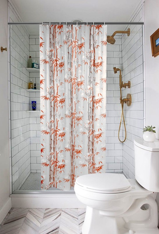 check MRP of orange curtains in living room E-Retailer