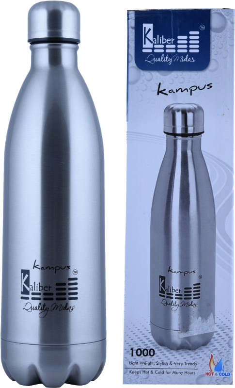 Kaliber Kampus 1000SS 1000 ml Flask(Pack of 1, Silver)