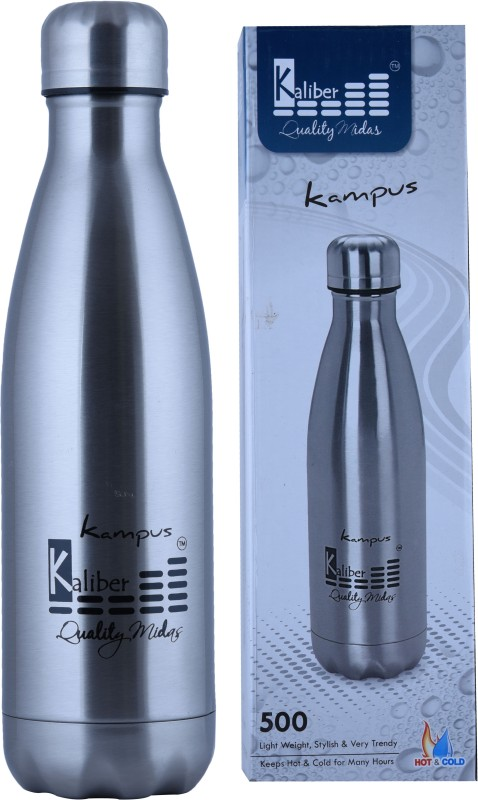 Kaliber Kampus 500SS 500 ml Flask(Pack of 1, Silver)