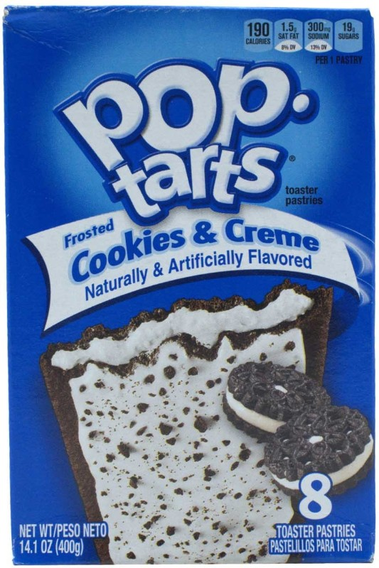 Pop Tarts Toaster Pastries, Frosted Cookies & Creme, 8 pack - 400g(400 g, Box)