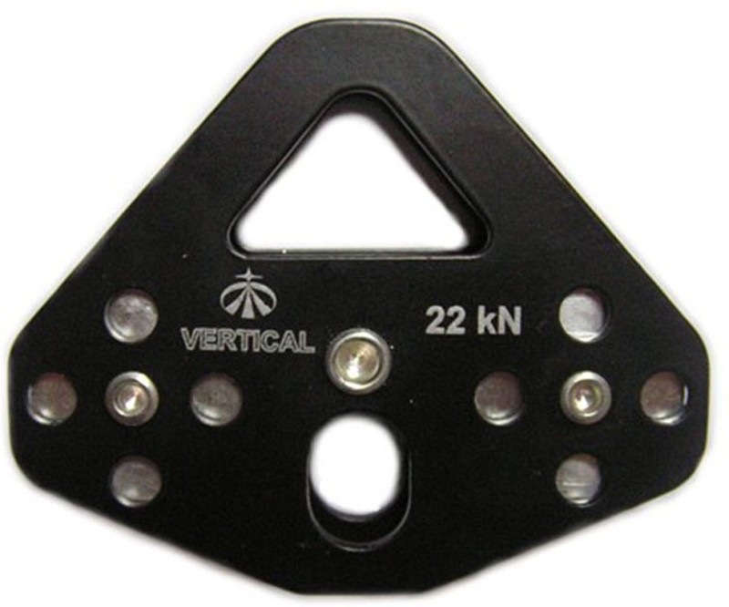 Vertical Tandem Pulley Steel Climbing Pulley(Black)