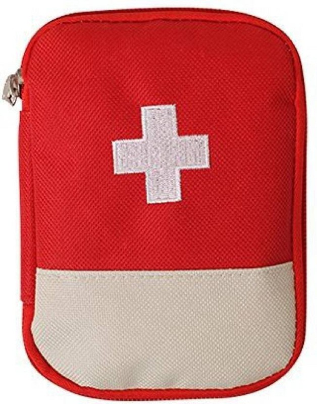 Saiyam Mini Small First Aid Kit Travel Pouch Medicine Storage Bag First Aid Kit(Home, Sports and Fitness, Workplace, Vehicle)