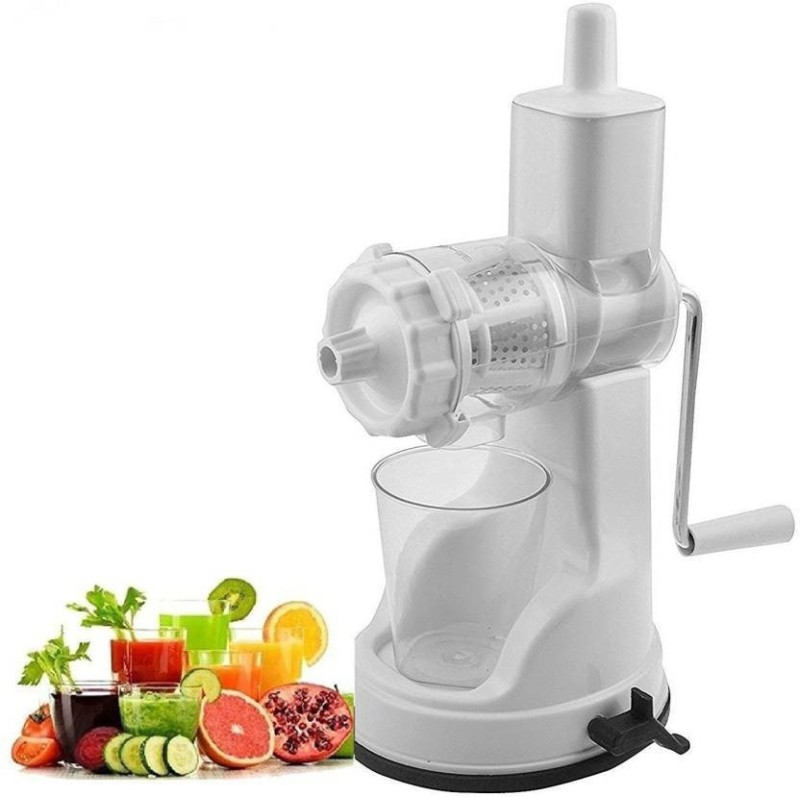 SARA kreyam's® Fruit & Vegetables Juicers Plastic Hand Juicer(White Pack of 1)