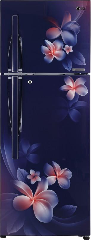 LG 260 L Frost Free Double Door 4 Star (2019) Convertible Refrigerator(Blue Plumeria, GL-T292RBPN)