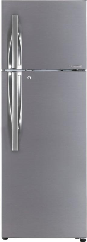 LG 284 L Frost Free Double Door 3 Star Refrigerator(Shiny Steel, GL-T302RPZU)