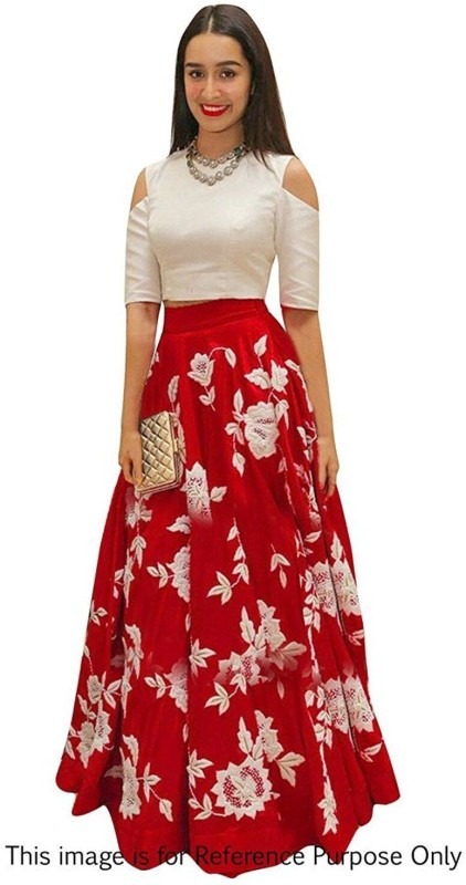 ELDC Embroidered Lehenga Choli(Red)