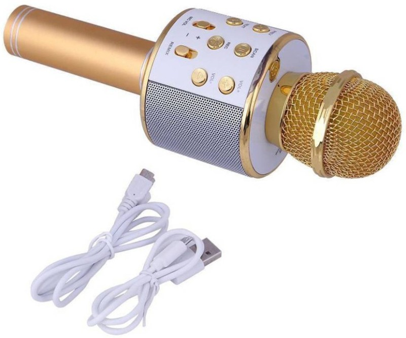 ALONZO Rock Sound WS-858 Wireless Handheld Bluetooth Mic with Speaker Audio Recording and Karaoke Feature Microphone