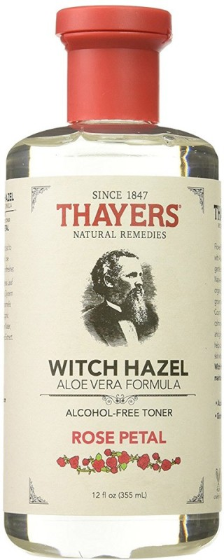 Thayers Alcohol-free Rose Petal Witch Hazel with Aloe Vera, 12 oz(355 ml)