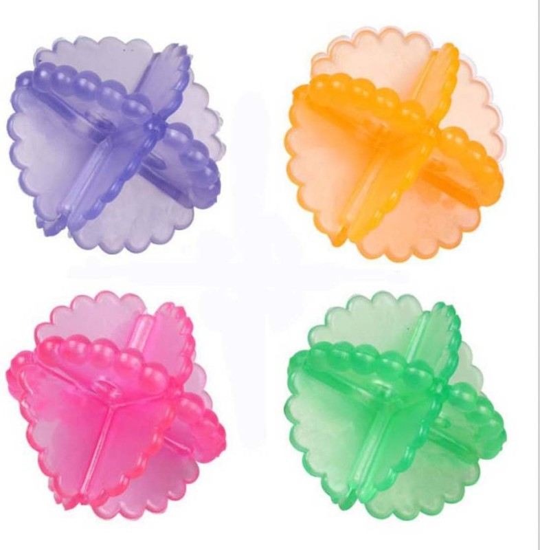 pinkparifashion Multicolor Laundry ball Pack of 4 Detergent Bar(0.303 g, Pack of 4)