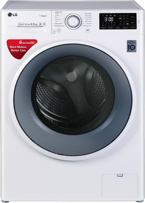 LG 6.5 kg Fully Automatic Front Load Washing Machine White(FHT1065SNW)