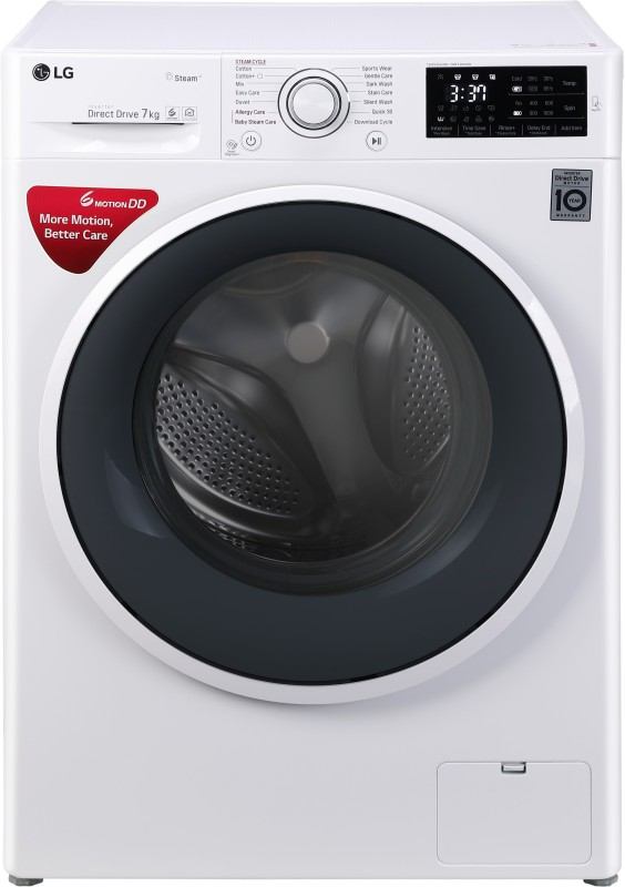 LG 7 kg Inverter Fully Automatic Front Load Washing Machine White(FHT1007SNW)
