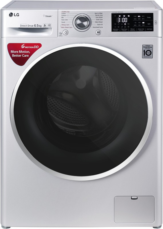 LG 6.5 kg Fully Automatic Front Load Washing Machine Silver(FHT1265SNL)