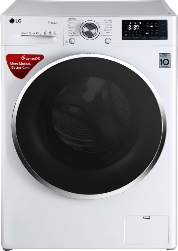 LG 8 kg Fully Automatic Front Load Washing Machine with Wifi White(FHT1408SWW)