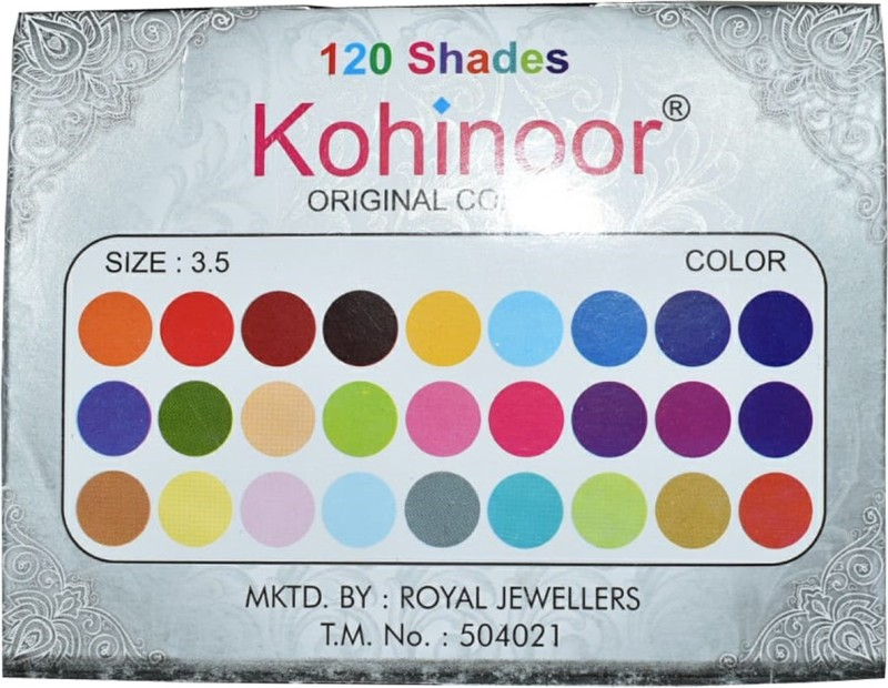 Kohinoor Multi Round Bindi For Women Women Multicolor Bindis(Stick On)