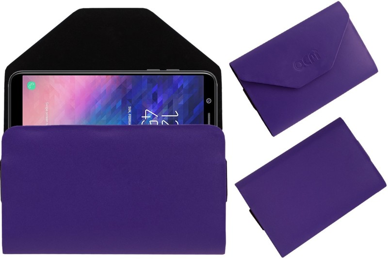 ACM Pouch for Samsung Galaxy A6(Purple, Cases with Holder, Artificial Leather)