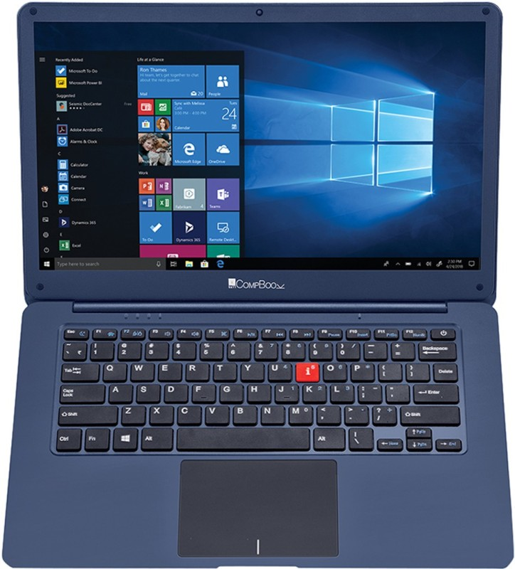 iBall CompBook M500 Celeron Dual Core - (4 GB/32 GB EMMC Storage/Windows 10 Home) M500 Laptop(14 inch, Cobalt Blue, 1.3 kg)