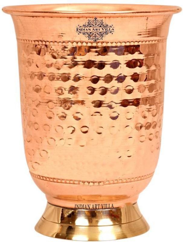 IndianArtVilla IAV-CC-3-144 Glass(Copper, 400 ml, Brown, Pack of 1)