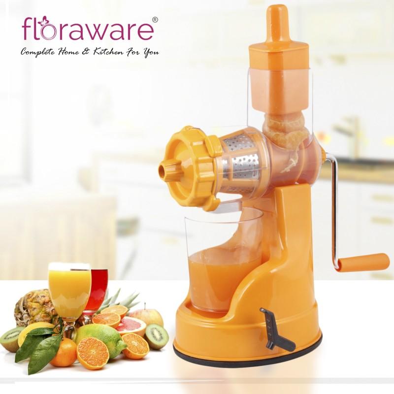 Floraware Fruit And Vegetable With Steel Handle, Orange Color Plastic Hand Juicer(Orange Pack of 1)