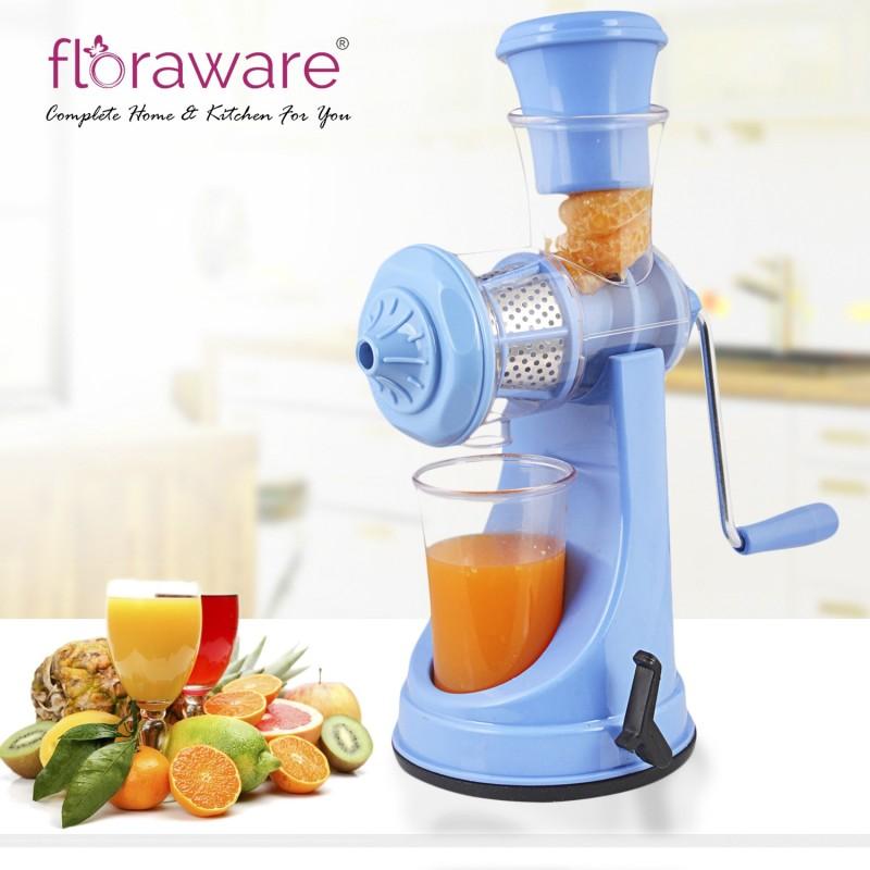 Floraware Blue - with Steel Handle - Fruit & Vegetable Plastic Hand Juicer(Blue)