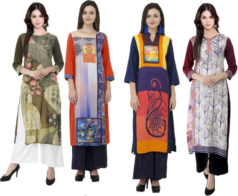 Sparsh Festive & Party Printed Women's Kurti(Multicolor)