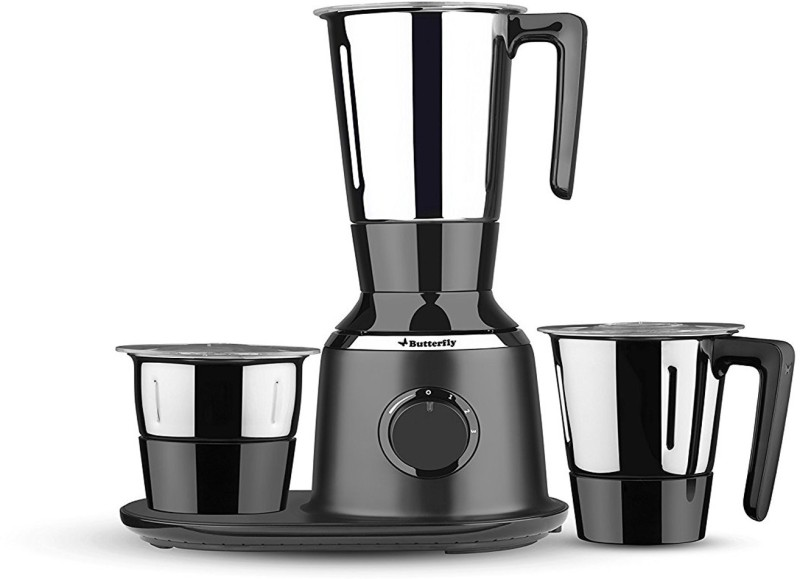 Butterfly Present Spectra with 3 Jars 750 W Black color Unbreakable polycarbonate outer shell and SS inner shell jars 750 Juicer Mixer Grinder(Black, 3 Jars)