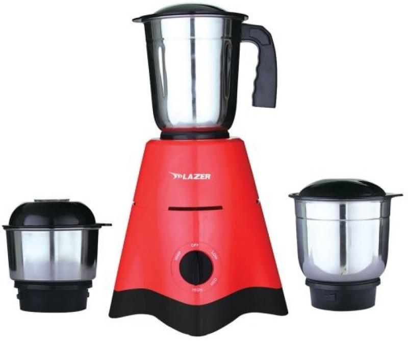 LAZER ONE ALLURE 500 W Mixer Grinder(RED AND BLACK, 3 Jars)