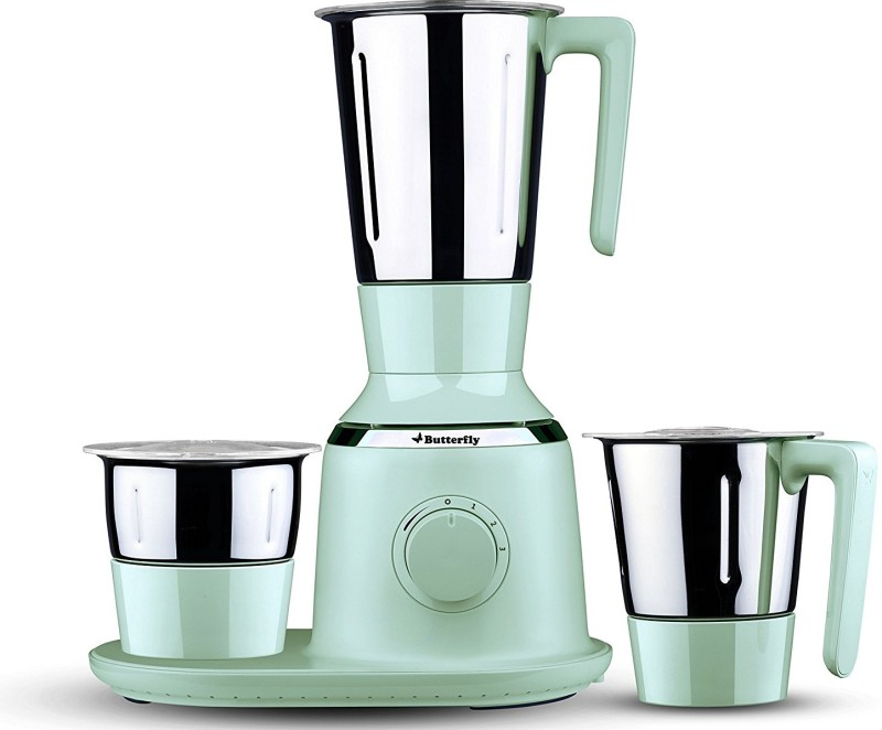 Butterfly Present Spectra with 3 Jars 750 W Green color Unbreakable polycarbonate outer shell and SS inner shell jars 750 Juicer Mixer Grinder(Green, 3 Jars)