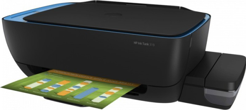HP Ink tank 319 all in one Multi-function Color Printer(Black, Refillable Ink Tank)