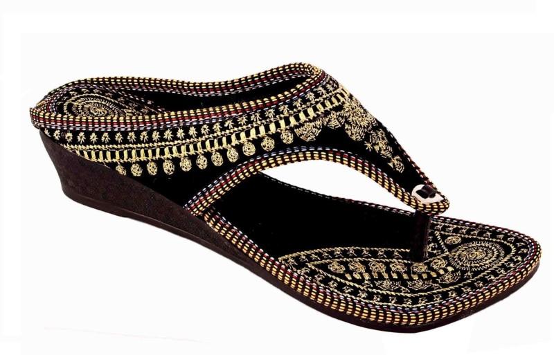 AMAZING TRADERS Women Black Flats