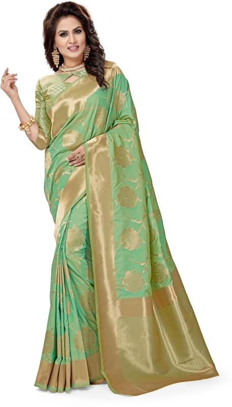 FabTag - Aashvi Creation Woven Patola Pure Silk, Banarasi Silk, Art Silk,...