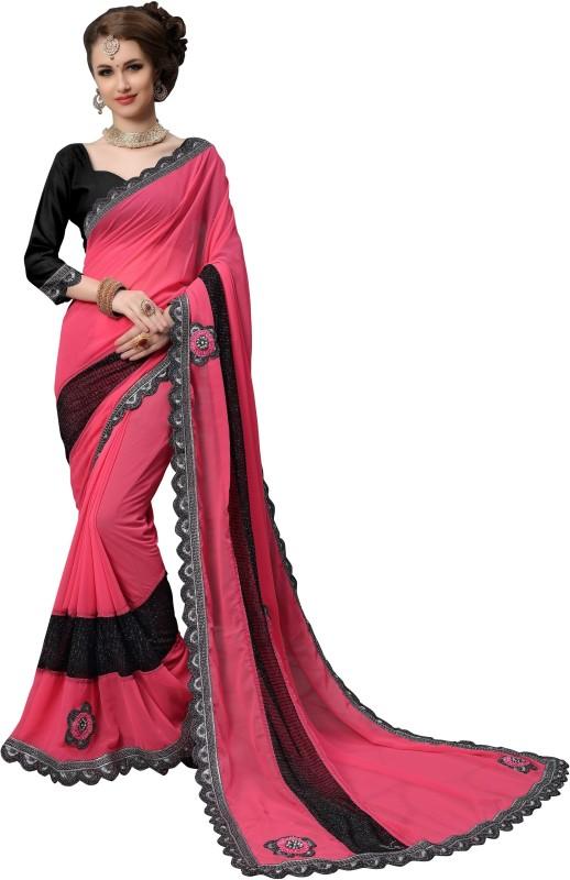 FabTag - Aashvi Creation Embroidered, Embellished, Self Design Bollywood Georgette, Heavy Georgette,...