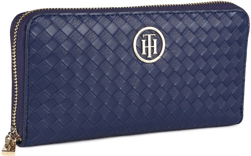 Tommy Hilfiger Women Formal Blue Artificial Leather Wallet(12 Card Slots)