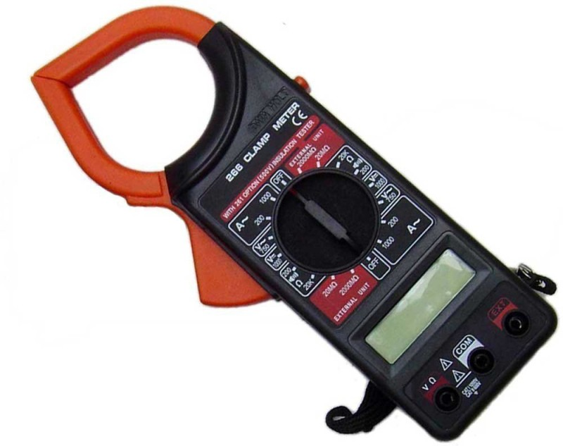 Inditradition Digital Clamp Meter | 1999 Counts, AC/DC Voltmeter, Auto-Ranging Automatic Multimeter Digital Conductivity Meter
