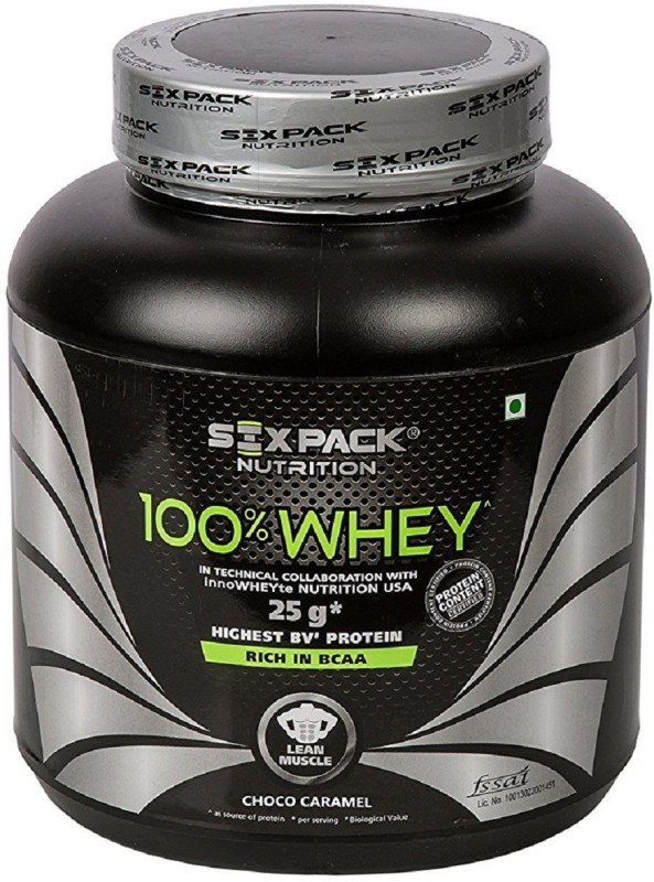 SIX PACK NUTRITION 100% Whey Protein - 2 kg (Choco Caramel) Whey Protein(2 kg, Choco Caramal)