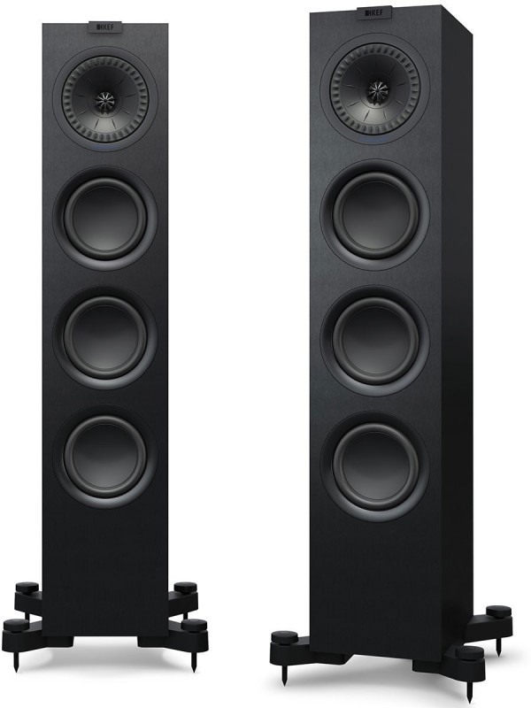Kef Q-550 Floor Standing Speaker Set of Pair- Total Dynamic Power Handling Each Watts- 200 W Tower Speaker(Black, 2.0 Channel)