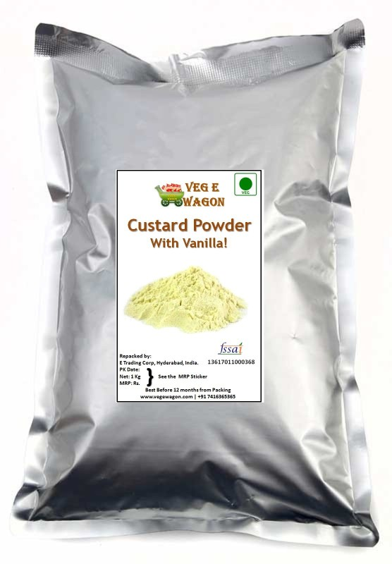 Veg E Wagon Custard Powder Vanilla Flavoured Sugar(1 kg)