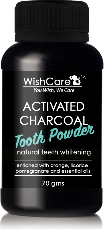 WishCare Activated Charcoal Tooth Powder for Natural Teeth Whitening, Enamel Safe Teeth Whitener, Minty Fresh Feel(70 g)