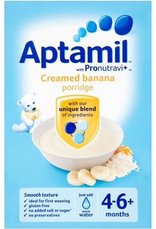 aptamil Creamed Banana Porridge 125g Cereal(125 g, 4+ Months)