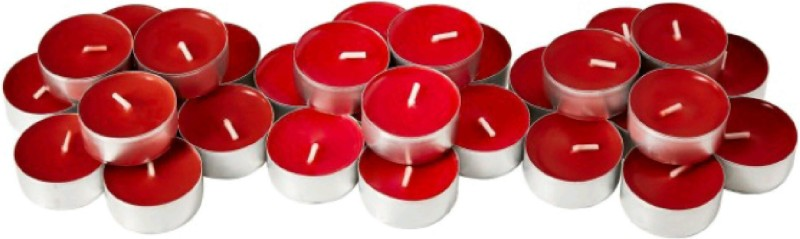 Madhulica Candles MADHULICA RED TEA LIGHT CANDLES PACK OF 24 PCS Candle(Red, Pack of 27)