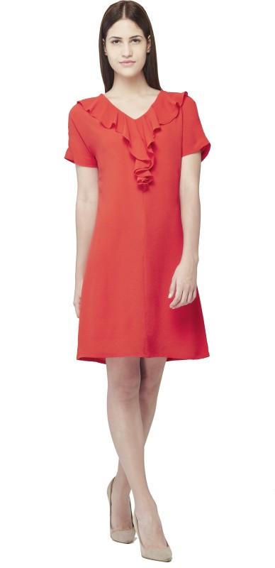 AND Womens Shift Orange Dress