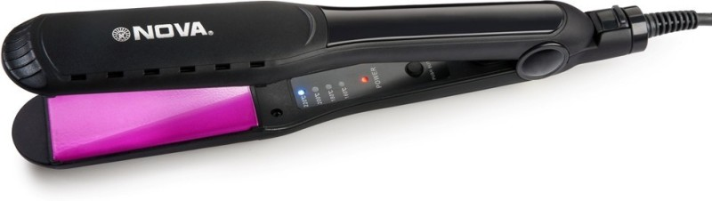 Nova Temperature Control Professional NHS-900 Hair Straightener(black / Pink)