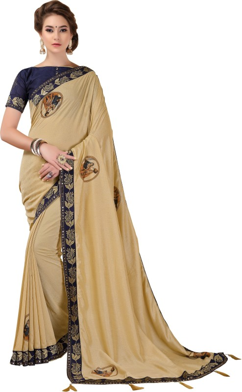 Rola Trendz Printed Bollywood Cotton Silk, Silk Cotton Blend Saree(Multicolor)