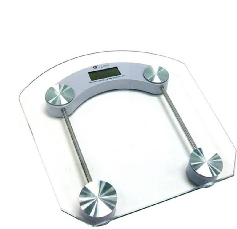 NP NAVEEN PLASTIC Personal Weight Machine 8mm Thick Round Transparent Glass Weighing Scale for home gym fitness Weighing Scale Weighing Scale(TRANSPARENT)