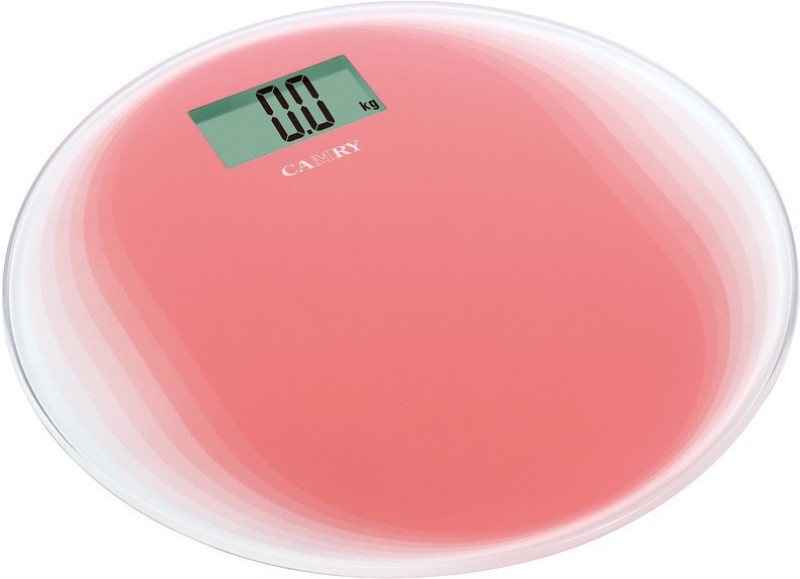 GVC Ultra Slim Camry Weighing Scale(Red, Transparent)