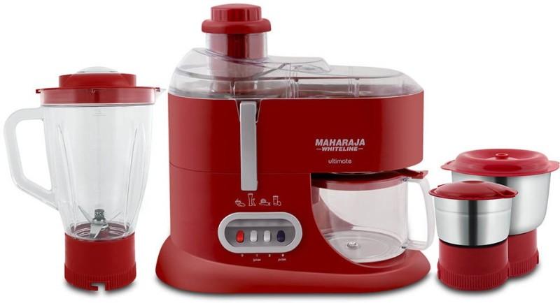 Maharaja Whiteline ULTIMATE (JX-101) 550 W Juicer Mixer Grinder(Red, 3 Jars)